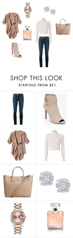 """2017"" by smbklyn on Polyvore featuring Frame, BCBGeneration, A.L.C., MANGO, Effy Jewelry, Rolex and Chanel"