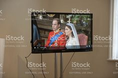 The Royal Wedding on Television in London, England royalty-free stock photo