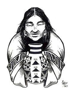 Serie Pueblos Originarios | Diaguita - DONSATA Ilustración y DiseñoDONSATA Ilustración y Diseño Native Art, Native American Art, American Indians, Classy Tattoos, Elegant Tattoos, Arte Tribal, Latin Girls, Western Art, Tattoo Inspiration