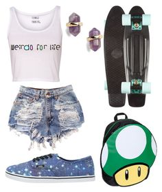 """""""Untitled #44"""" by catiepayne ❤ liked on Polyvore featuring Nintendo, Nordstrom and Vans"""