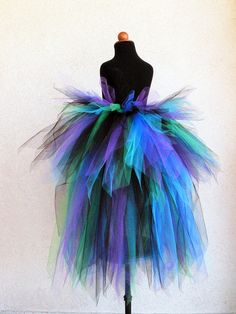 Peacock Tutu with Bustle  Children's Custom Sewn by TiarasTutus