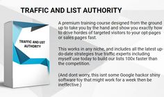 Traffic and List Authority comes in 13 useful and easy-to-understand modules: Lead Magnet Creation and Roadmap to Success, The Skyscraper Strategy, Levrage JV Partners, Crowdsourcing Content. Guest Blogging 2.0, Content Syndication, Content Repurposing, Tapping into Trending Traffic, Micro-Content Marketing, Free Facebook Groups, Lowcost New PPC Marketing, SEO & Whitehat Link Bulding, and Forming Syndication. Nothing is hidden or held back and this works for any niche you want, not just…