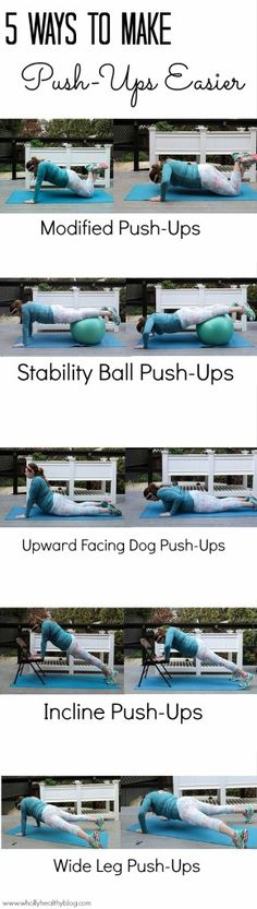 Try these 5 modified push-ups to make your push-ups easier!