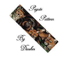 Wild Animals Peyote Beading pattern Bracelet, Seed Bead Graph, Delica Pattern, Flat Peyote Bracelet, Wide Cuff, Even Count Peyote