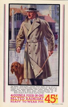 There's a rich source of images from the 1938 Montague Burton Catalogue at the Retronaut website. Nonmilitary dieselpunk fashion begins here.