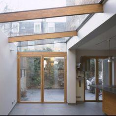 Victorian house side return - oak doors, lots of glazing, lots of light Victorian Terrace, Victorian Homes, Porches, Wood Pergola, Pergola Plans, Pergola Patio, Pergola Shade, Pergola Kits, Pergola Ideas