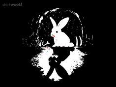 Rabbit Of Caerbannog, Rabbit Art, Bunny Tattoos, Bunny Art, Monty Python, Textiles, Rainbow Bridge, Tshirt Colors, Line Art