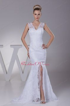 Brush Train Wedding Dress