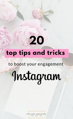 20 of the Best Instagram Hacks for more Engagement. Instagram, Monetize, Tips, Tricks, Hacks | The top 20 best tips, tricks and hacks to boost your Instagram engagement!Instagram as you may know if you know me, is one of my favourite tools to market my blog with. I feel like it's so underrated just because you can't put links in your posts that your audience can click on.