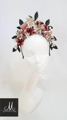 Millinery By Mel design www.millinerybymel.com.au Millinery Hats, Fascinator Hats, Fascinators, Headpieces, Fancy Hats, Cool Hats, Turban Headbands, Floral Headbands, Flower Headdress