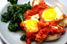 Eggs in Tomato Sauce... aka the ultimate breakfast.