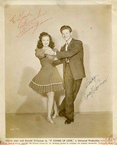 Gloria Jean Donald O`Connor Autograph Signed Photo | eBay