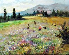 Marcel Dyf - Fields on the French Riviera