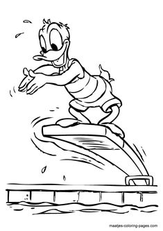Donald Duck Coloring Pages | Donald Duck coloring page