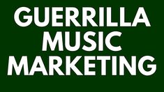 Guerrilla Music Marketing Tips: Self-Promotion Principles for Musicians 2018 Guerilla Marketing, Marketing Plan, Marketing And Advertising, Content Marketing, Online Marketing, Music Promotion, Self Promotion, Tool Music, Music Online