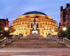 "London England... ""The Albert Hall, the largest domes building in Britain, is more than 200 metres in circumference and possessed of a wonderfully impressive interior – but from without, its dome is so shallow as to be unnoticeable."""