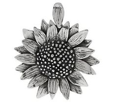 Or Paz Silver Jewelry | Or Paz Sterling Textured Sunflower Pendant review | buy, shop with ...