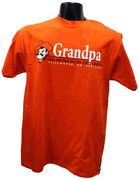 OSU Grandpa w/Pete T-shirt  Show YOUR pride in this 100%cotton t-shirt. Features Pistol Pete with an Oklahoma State bar design.