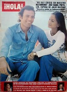Isabel Preysler and Julio Iglesias | Details about HOLA 1977: JULIO IGLESIAS ISABEL PREYSLER_MARIA CALLAS ... Enrique Iglesias, Hello Magazine, Maria Callas, Filipina, English, Father And Son, Wasting Time, My Idol, Holi