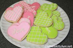Valentine's Themed Cookies with a NO FAIL sugar cookie recipe from @Julie | The Little Kitchen