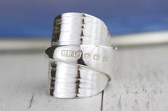 Excited to share this item from my shop: Spoon Ring English Sterling Silver 925 Statement Spoon Ring Made From Antique Spoon Any Size!