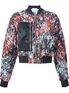 open knit bomber jacket  #Farfetch #style #3.1-Phillip-Lim