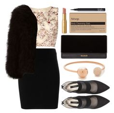 """Untitled #85"" by roxeyturner ❤ liked on Polyvore featuring Raishma, T By Alexander Wang, Balmain, Jocelyn, Michael Kors, Zara, Too Faced Cosmetics, Aesop and NARS Cosmetics"