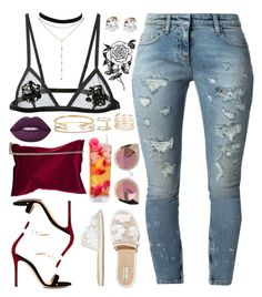 """Dark Flower "" by love-rebelwolf ❤ liked on Polyvore featuring Forever 21, Faith Connexion, Gianvito Rossi, Fleur du Mal, Balenciaga, GUESS by Marciano, River Island, Anya Hindmarch, Lime Crime and Quay"