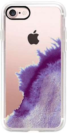 Casetify iPhone 7 Classic Grip Case - Metallic Ink Transparent - Amethyst & Opal by M I C H I K O #Casetify