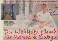 Lullababy® Federwiege auf der Geburtsstation im Marienkrankenhaus in Hamburg.