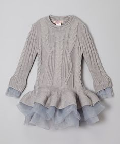 Look what I found on #zulily! Gray Ruffle Sweater Tunic - Toddler & Girls #zulilyfinds