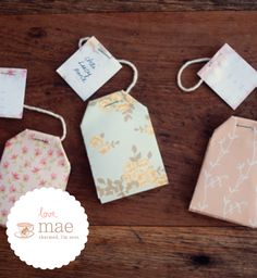 Make a Tea Bag Gift Tag.