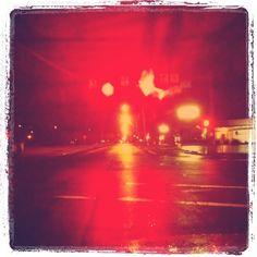 Red Lights & wet pavement. 05.01.11 #projectspectrum