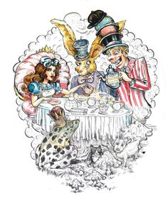 Molly Crabapple Alice in Wonderland print