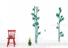Bamboo Wall Decals Nature Wall Decal Nursery by WallDecalsTime, $59.00