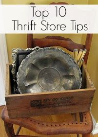 Top ten tips for making the most out of your thrift store experience