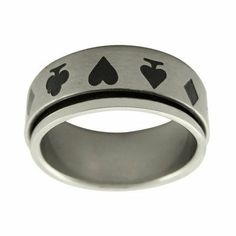 Card Suit Spinner Band Ring Size: 9.25 Trendbox Jewelry. $23.41