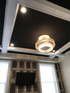 Bedroom coffered ceiling
