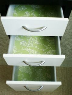 Beautify your drawers with dollar store finds!