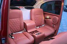 Luxus in Fusca Vw Super Beetle, Volkswagen Beetle Vintage, Vw T1, Volkswagen Beetle Interior, Custom Car Interior, Truck Interior, Custom Vw Bug, Custom Cars, Custom Trucks