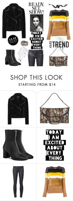 """""""On trend"""" by zabead ❤ liked on Polyvore featuring Alexander Wang, STELLA McCARTNEY, WALL, Paige Denim, Muveil, Janis Savitt, polyvorecontest and wintersweater"""