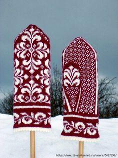 Ravelry: Elise mitten pattern by Johanne Landin Knitted Mittens Pattern, Knit Mittens, Knitted Gloves, Knitting Socks, Hand Knitting, Fingerless Mittens, Knitting Wool, Knitting Machine, Vintage Knitting