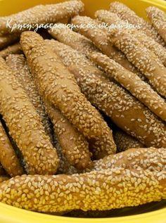 Τραγανά κουλουράκια λεμονιού (νηστίσιμα, με ελαιόλαδο) - cretangastronomy.gr Greek Recipes, Sweets, Cookies, Meat, Vegetables, Cake, Desserts, Food, Lenten