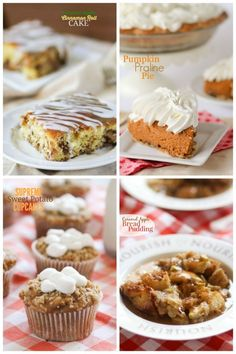 Tons of great Fall baking recipes -- caramel apple bread pudding, sweet potato casserole cupcakes, apple cinnamon roll cake...so much to keep me busy!