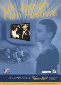 2004 UK Jewish Film Festival Programme Cover Jewish Film Festival, Tours, Cover, Movie Posters, Film Poster, Billboard, Film Posters
