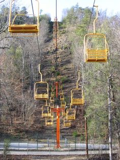 Rode the Chairlift at Ober Gatlinburg. Only it was in the winter with snow all over the ground. (: