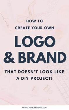 Create A Logo and Brand that doesn't look like a DIY Project! 30 Pre-Made Canva Logo Templates and Branding Workbook! Branding Your Business, Business Tips, Logo Branding, Online Business, Business Logos, Business Quotes, Make Money Blogging, How To Make Money, Earn Money