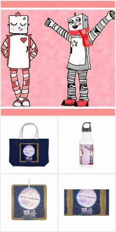 A collection of all my artwork that works perfectly for Valentine's Day #valentines #valentine #robots #art #zazzle #valentinesday #love #cutegifts #lovegifts
