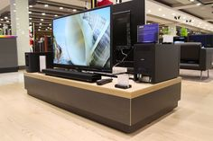 Retail Design | Shop Design | Electrical Store Interior | A wide range of televisions, right up to a whopping152 inches.