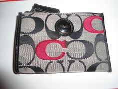 'NEW Coach Signature Black Pop Wallet # 48433' is going up for auction at  5pm Sat, Feb 16 with a starting bid of $40.